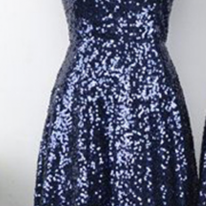 A-line V-neck Sequined Homecoming D..