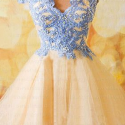 Homecoming Dress,Short Tulle Homec..