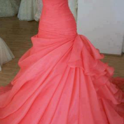 Mermaid Organza Prom Dresses Sweeth..