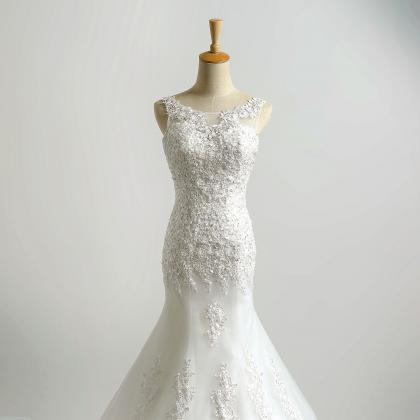 Lace Appliqué and Beaded Tulle Tru..