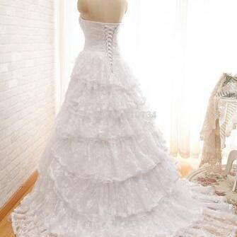 Real Photos Strapless Layers Lace L..