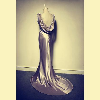 Sleeveless Satin Mermaid Long Prom ..