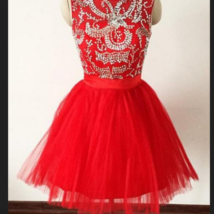 Sexy Prom Dress,Elegant Red Tulle ..