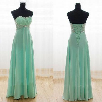 Sweetheart A-line Long Dress with B..