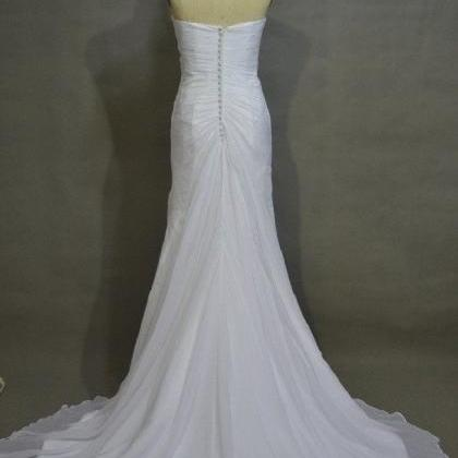 Simple Sweetheart Neck Strapless S..