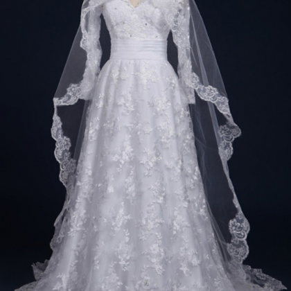 Sexy Long Sleeves Lace Bridal Gown ..