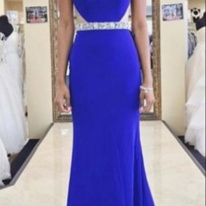 Charming Royal Blue Prom Dress, Mer..