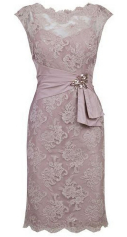Sheath Cap Sleeves Zipper Scalloped Glamorous Crystal Knee-length Homecoming Dress