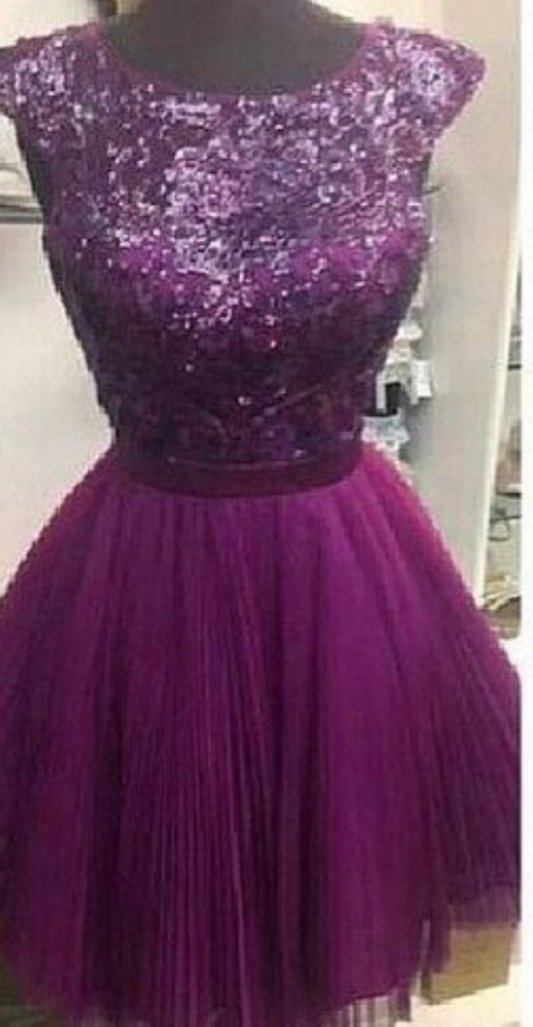Purple Homecoming Dress Short Prom Party Dresses