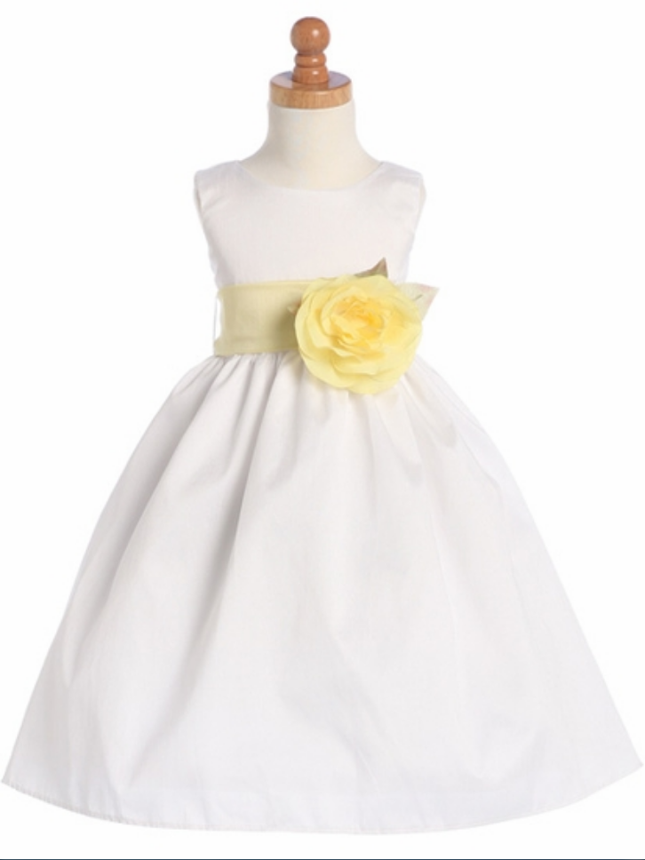 861ba5508f6 new flower girls dress White Poly Dupioni Dress Detachable Sash Tulle  Flower Girl Dress With Elegant Sash And Bow