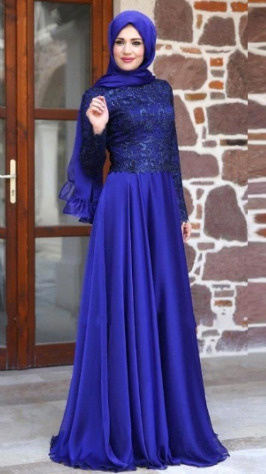 d1189866be Muslim Evening Dress, Hijab Evening Dress, Royal Blue Prom Dress, Lace Prom  Dress, Long Sleeve Prom Dress, Saudi Arabic Prom Dress, Prom Dresses ,  Cheap ...