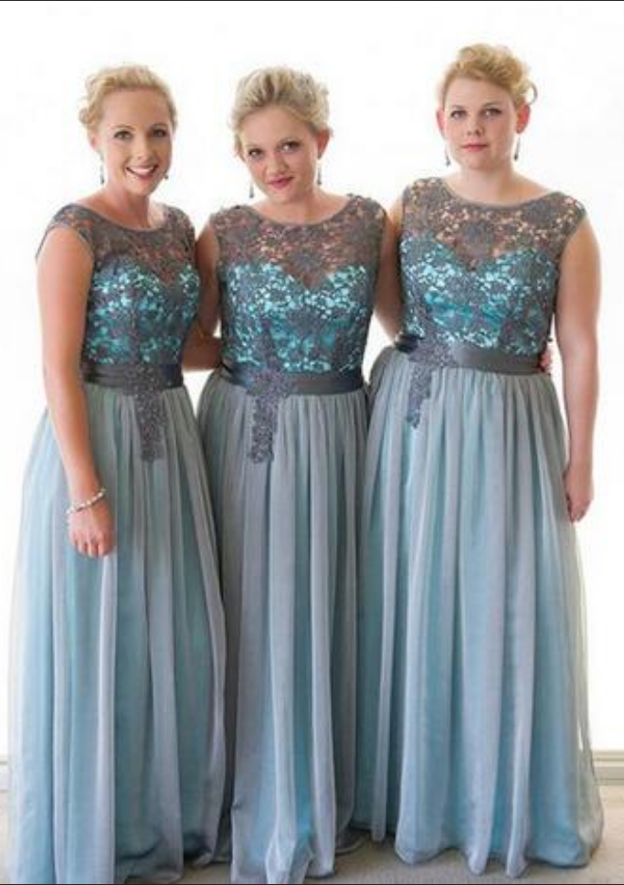 Cheap Bridesmaid Dresses ,Plus Size Bridesmaid Dress Gray Lace Maid Of  Honor Wedding Guest Dress Vestido Dama De Honor Long Chiffon Skirt Prom  Dresses