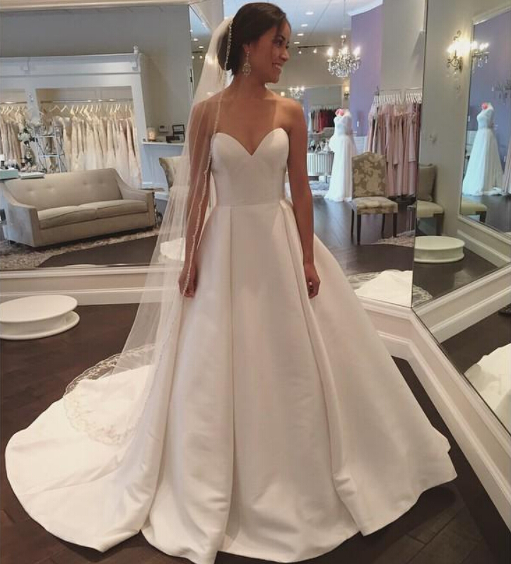 Wedding Dresses,2018 Wedding Gown,Satin Wedding Dresses,Simple ...