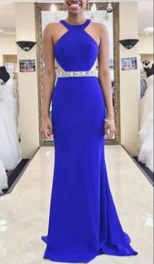 Charming Royal Blue Prom Dress, Mermaid Prom Dresses, Long Evening Dress