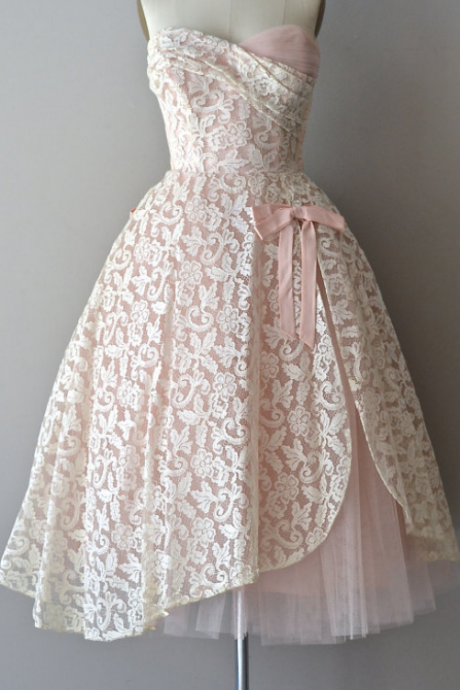 Sweetheart Homecoming Dresses, White Lace Homecoming dresses, Tulle Homecoming Dresses, Cute Homecoming Dresses, Charming Homecoming Dresses, Homecoming Dresses, Cheap Homecoming Dresses