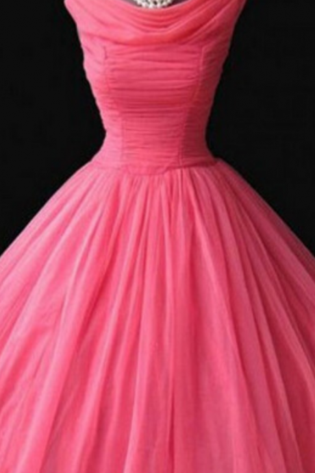Prom Homecoming Dresses, Vintage Watermelon Dresses, Homecoming Dress, Chiffon Homecoming Dresses