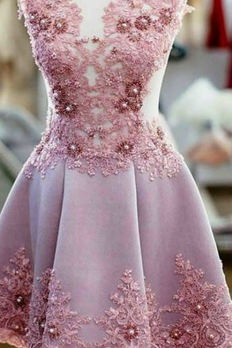 Sexy Homecoming Dresses,A-line Homecoming Dresses,Pink Homecoming Dresses,