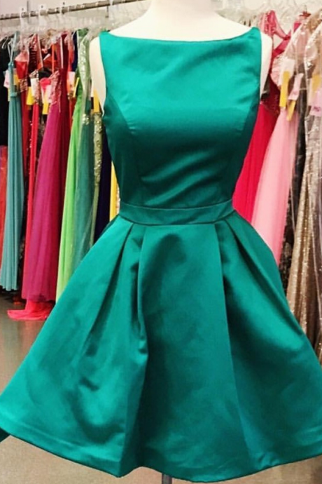 Green Strapless Sexy Open Back Homecoming Dress