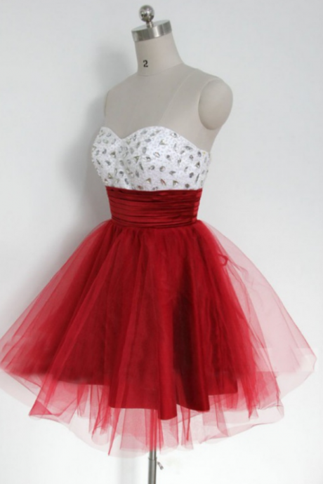 Short Beading Homecoming Dress Discount, Sleeveless Short/Mini Beading Lace Up Dresses
