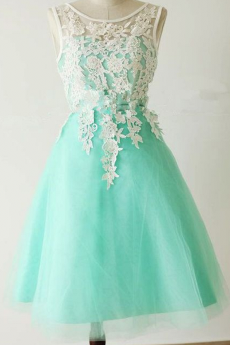 Appliques and Lace Graduation Dresses, Short/Mini Homecoming Dresses, Sexy Prom Dresses, A-Line Prom Dresses, Charming Evening Dresses