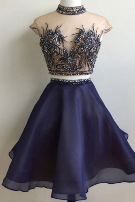 homecoming dresses,custom made dark blue short prom dress, cute homecoming dress
