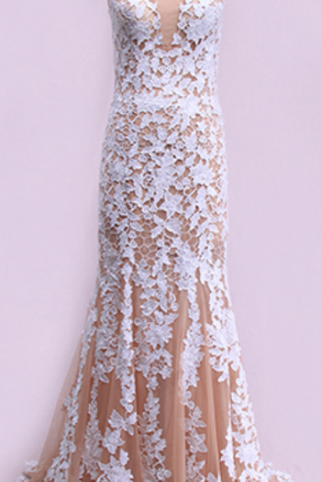 White Prom Dresses, Lace Prom Dresses, Tulle Evening Dresses, Long Prom Dresses, Sheath Prom Dresses, Dresses For Party