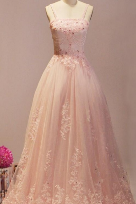 Prom Dresses,Evening Dress,Party Dresses,Blush Pink Prom Dresses,Ball Gown Prom Dresses,Quinceanera Dresses,Girly Prom Dresses For Teens,Evening Dresses,Lace Beading Party Dresses