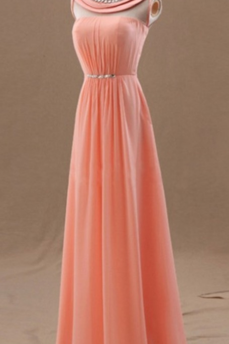 Prom Dress,Sexy Prom Dress,A Line Prom dresses,Coral Prom Dresses,Custom Made Prom Dress,Chiffon Prom Dresses, Sexy Prom Dress, Long Prom Dresses