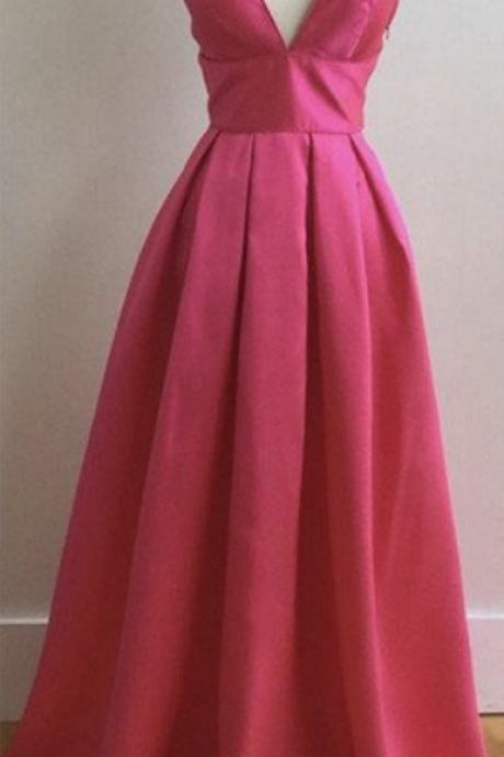 Elegant Prom Dress, Long Prom Dress,V Neck Prom Dresses, Formal Evening Dress