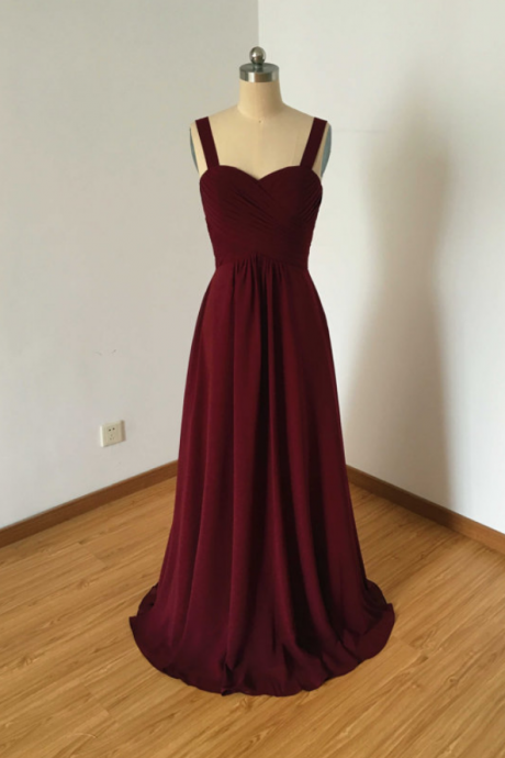 Bridesmaid Dresses,Evening Dress,Burgundy Bridesmaid Dresses,Floor-Length Bridesmaid-Dresses,Wedding Party Dress