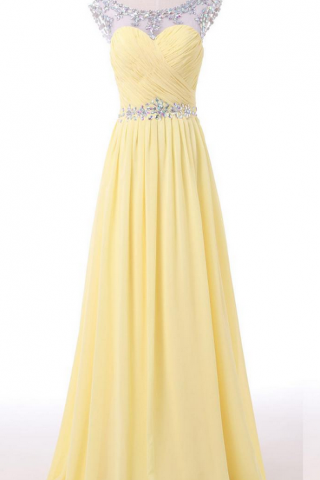 Daffodial Long Chiffon Prom Dresses,Elegant Pretty Prom Gowns,Party Gowns,Charming Modest Evening Gowns,Bridesmaid Dresses