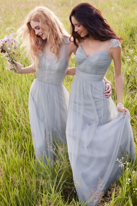 Sliver Tulle Bridesmaid Dresses, Mismatched Bridesmaid Dresses, New Arrival Bridesmaid dresses, Cheap Bridesmaid Dresses, Junior Bridesmaid dresses, Popular Bridesmaid Dress