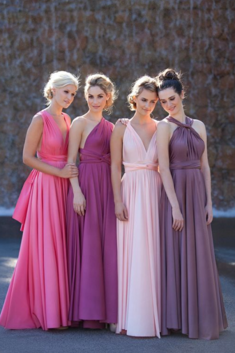 Long Bridesmaid Dress,Convertible Bridesmaid Dress,Chiffon Bridesmaid Dress,Popular Bridesmaid Dress,Cheap Bridesmaid Dress
