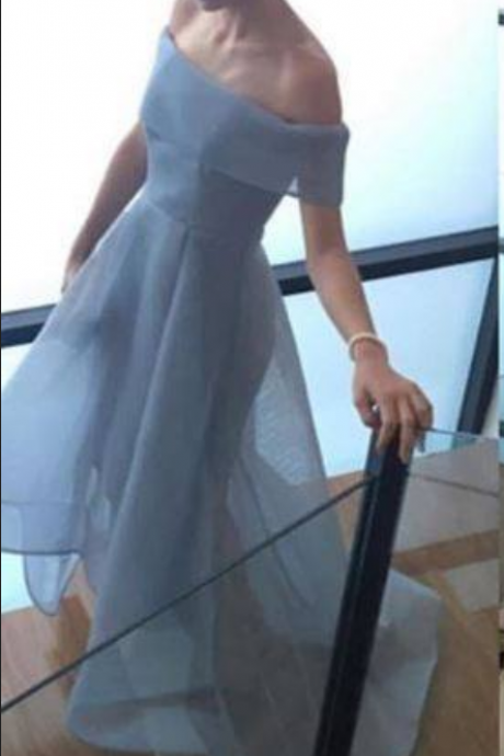 Baby Blue Ball Gown Bridesmaid Dresses Charming Prom Dress, Straplss Sleeveless Bridesmaid Gowns