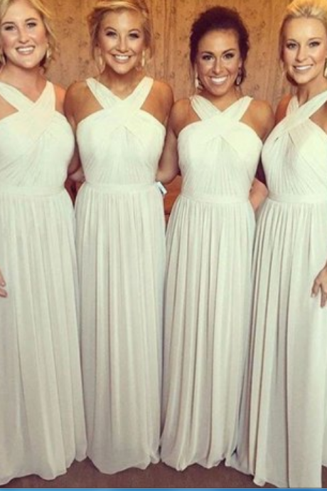 Bridesmaids Dress, Sexy chiffon Prom Dress,Sleeveless Bridesmaids Dress,Open Back Evening Dress,Long Bridesmaids Gowns,High Quality Graduation Dresses,Wedding Guest Prom Gowns, Formal Occasion Dresses,Formal Dress