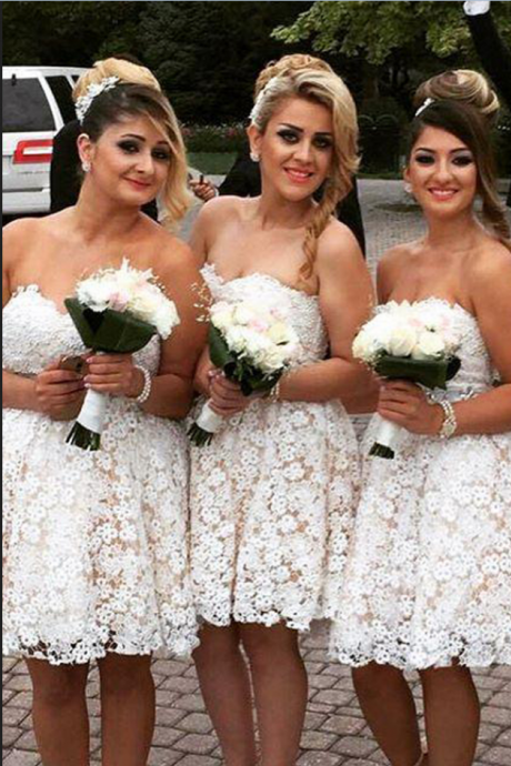 lace bridesmaid dress, short bridesmaid dress, sweetheart bridesmaid Dress, cheap bridesmaid dress, junior Bridesmaid Dress,Wedding Guest Prom Gowns, Formal Occasion Dresses,Formal Dress