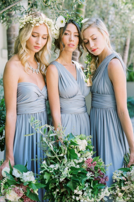 Convertible/Multiway Bridesmaid Dresses-Dusty Blue Convertible Bridesmaid Dresses