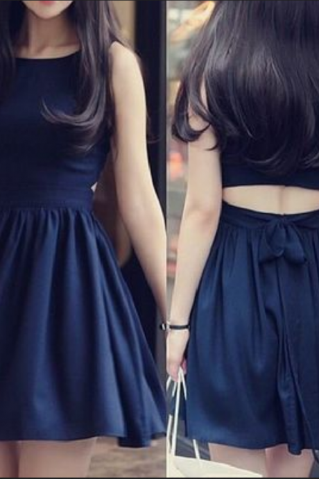 navy prom dress,Homecoming dress,Short prom Dress,cheap prom dress,Party dress for girls