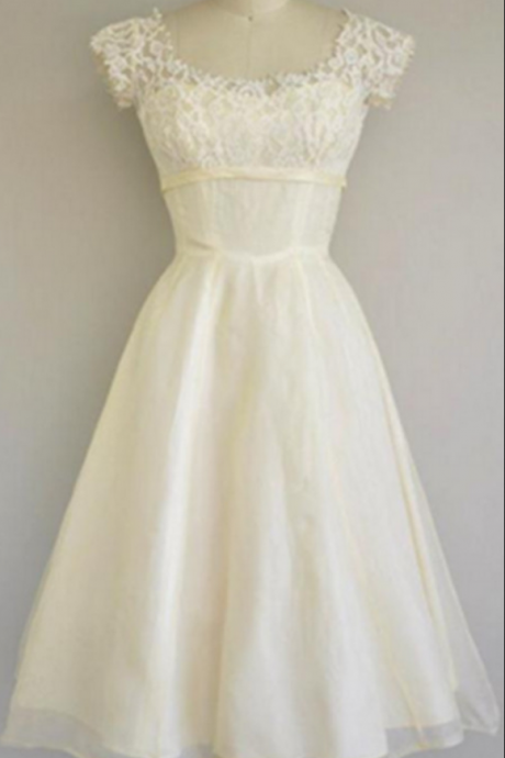 Classy Ivory Homecoming Dresses,Beach Wedding Dresses,Handmade Short Prom Dresses