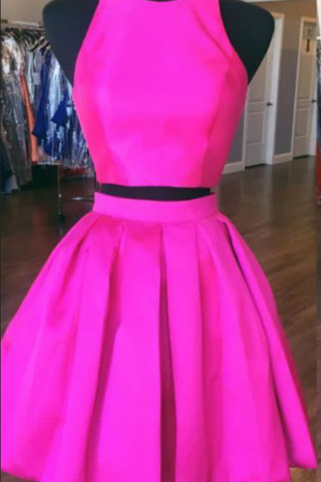Homecoming Dress, Two-piece Homecoming Dress, Short Homecoming Dress, Open Back Homecoming Dress