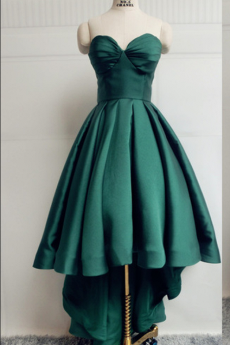 Dark Green Homecoming Dress,High Low Prom Dress,Prom Dress Cheap, Prom Gown,Junior Prom Dress,Evening Dress High Low,Cocktail Party Dress,Formal Dress