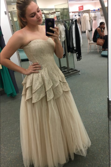 Prom Dress,Prom Dresses,Sweetheart Prom Dresses,Long Tulle Formal Gowns, Champagne Prom Dresses,A-line Prom Dress,Sexy Prom Dresses,Prom Dresses ,Tulle Prom Dresses,Long A-line Formal Gowns,Cheap Prom Dresses,Long Party Gowns