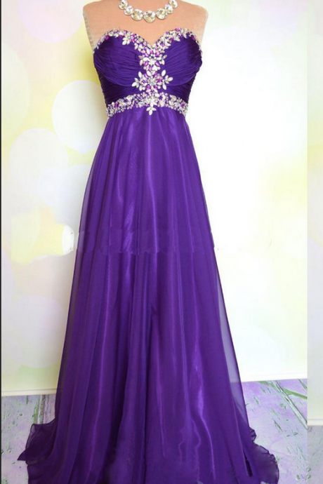 Grape Prom Dresses,Chiffon Prom Gowns,Sparkle Prom Dresses,Long Party Dresses,Grape Prom Gown