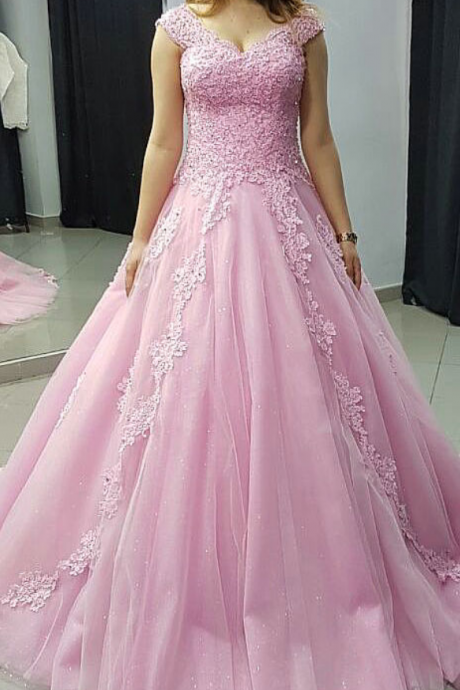 Cheap prom dresses ,Off the Shoulder Sweep Train Prom Dresses Ball Gown