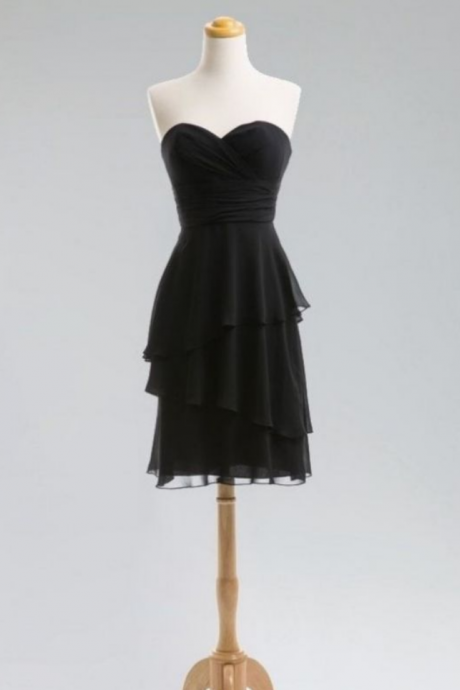 Short Homecoming Dress Short/Mini Chiffon Sleeveless Zipper Sweetheart For Cocktail Cheap Dresses