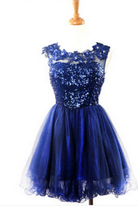 Homecoming Dress,Short Prom Gown,Tulle Homecoming Gowns,Sequin Party Dress,Sequined Prom Dresses,Beaded Homecoming Dress For Teens