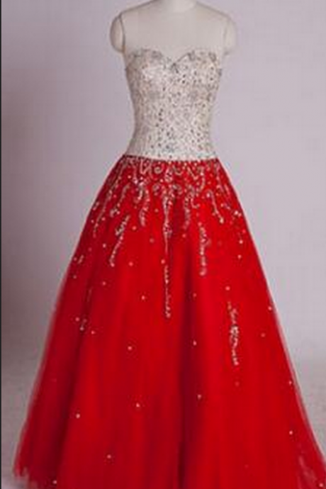 Sweetheart Prom Dresses, Lace-Up Prom Dresses, A-Line Prom Dresses, Floor-Length Prom Dresses,