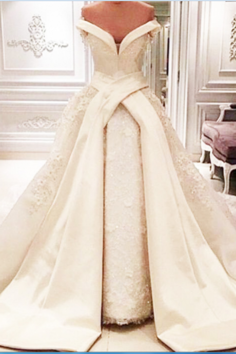 Wedding Dresses, Wedding Gown,Luxury Ball Gown Lace Wedding Dresses