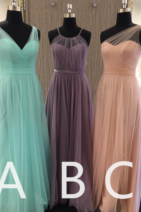 Light Blue Bridesmaid Dress, Tulle Bridesmaid Dress, Pink Bridesmaid Dress, Mismatched Bridesmaid Dresses, Cheap Bridesmaid Dress, Gray Bridesmaid Dress, Long Bridesmaid Dress, Dresses For Weddings