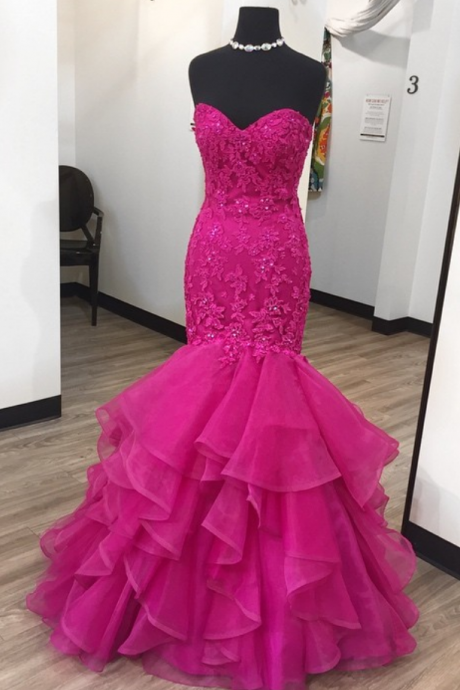 Charming Prom Dress,Sexy Prom Dresses,Mermaid Evening Dress,Sleeveless Tulle Lace Evening Dresses,Formal Dress